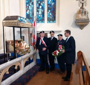 Wreath laying ceremony at St Mary's of the Angels at Katyn memorial